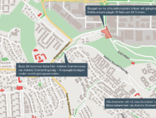 Trafikkontoret informerar: Bygget av ny cirkulationsplats påverkar trafiken på Sisjövägen