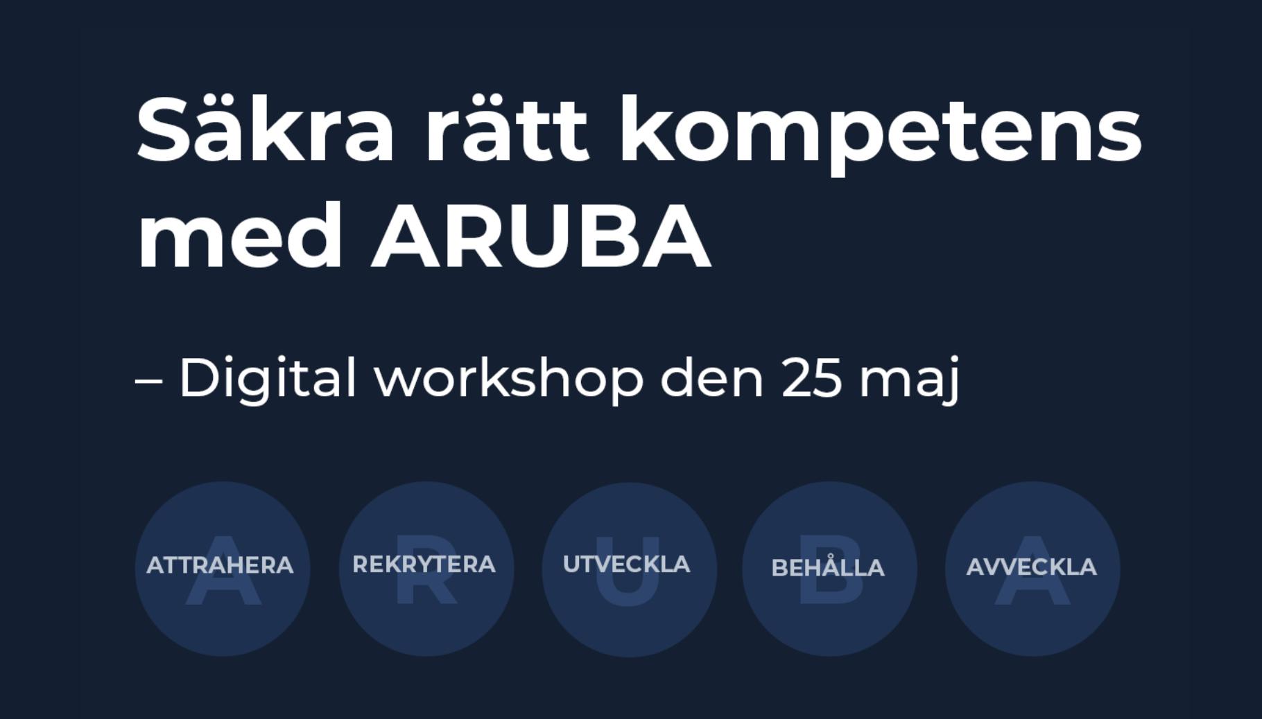 Digital workshop: ARUBA 25 maj